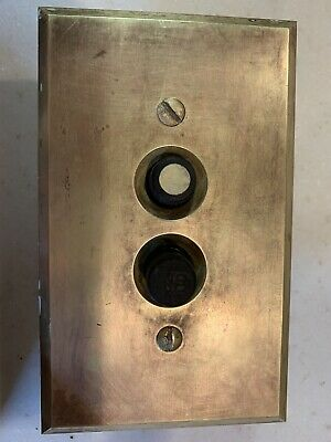 Vintage Push Button Light Switch Single Pole With Perkins Brass Switch Plate
