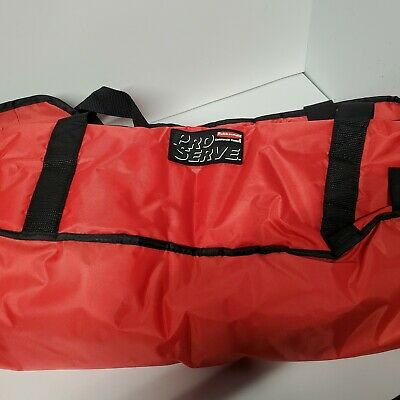 Rubbermaid Commercial PROSERVE Pizza Delivery Bags, Large, Red