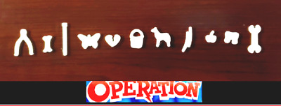Complete Set of 11 Operation Game Replacement Pieces