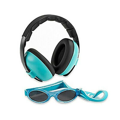 Banz Hear/See No Blare Baby Ear Hearing Protection Sunglasses & Earmuffs 3m+ BLU