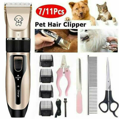 UK Electric Cordless Pet Dog&Cat Grooming Clipper Hair Trimmer Shaver Kit Sets