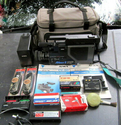 collectors vintage  AIWA CV-80 video camera recorder , with all extras , working