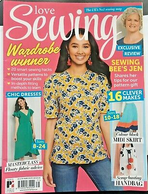 Love Sewing issue 71 + 2 Free Dress Tops Patterns Mcalls 7574 & Wrap Dress new