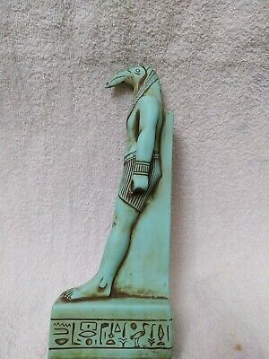 Rare Antique Ancient Egyptian Statue King Thoth is the god of wisdom green 27 cm