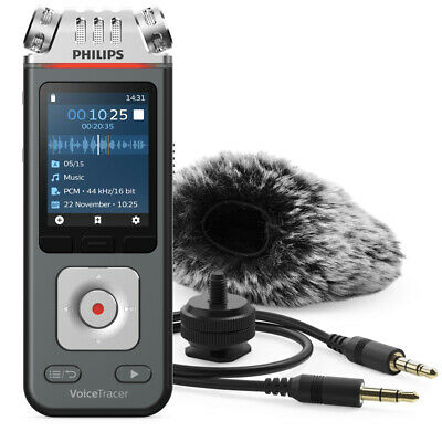 Philips8GB Digital VoiceTracer Audio Recorder w/3 Mics/DSLR Video Shooting Kit