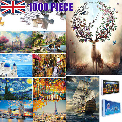 1000 Pieces Large Jigsaw Puzzles Adult Kids Educational Toys Brand New 750x500MM