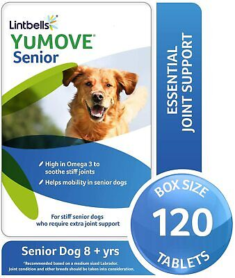 Lintbells,YuMOVE Senior Dog,Hip and Joint Formulas for Dogs Over 9+,120 Tablets