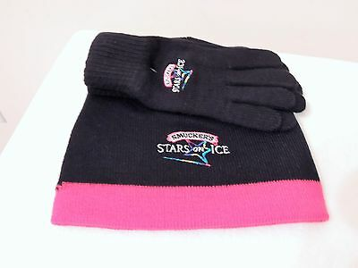 NWT Smuckers Stars On Ice Knit Hat and Gloves
