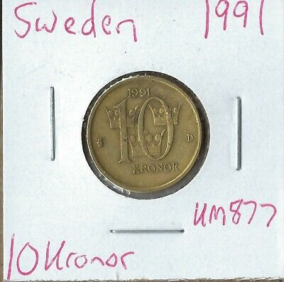 Coin Sweden 10 Kronor 1991, KM877