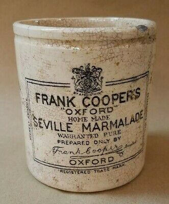 marmalade JAR POT ironstone mark FRANK COOPER advertising English typography old