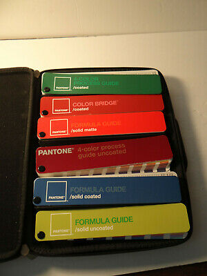 Pantone Guide Kit Case 6 Color Bridge Formula Coated Uncoated Matte Paint Chips