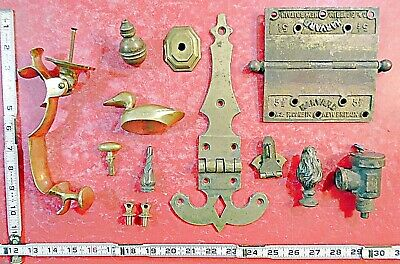 7 lbs CHUNKY BRASS p&f corbin HARVARD HINGE flame finial DOOR KNOCKER duck ETC