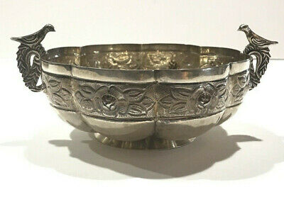Large - Sanborns Mexico Aztec Rose .925 Sterling Silver Bowl ~ 295 Grams
