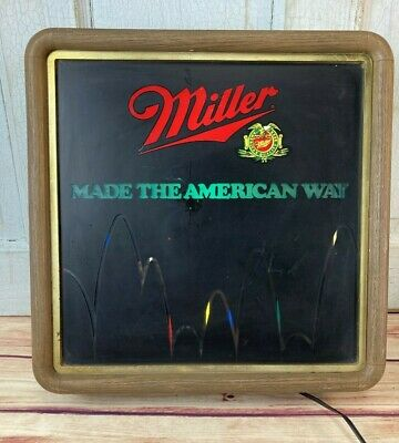 Vintage 1985 Miller High Life Beer Lighted Motion Bouncing Ball Beer Sign