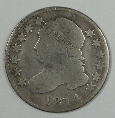 BARGAIN 1814 Capped Bust Silver Dime GOOD 10c