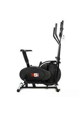 New Exercise Bike Elliptical Cross Trainer 2 in 1 Cardio Fitness Workout Machine