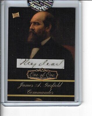 James Garfield 2020 The Bar 1/1 Series 1 Pieces Of The Past 20Th Us President