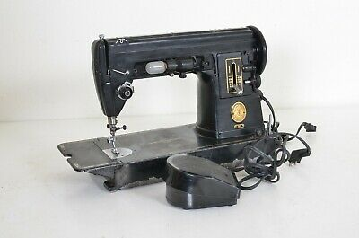Vintage Singer 301 Sewing Machine Heavy Duty Rare Solid Black Design Tested Work