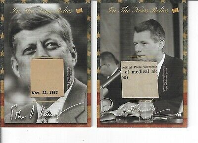 John & Bobby Kennedy 2018 The Bar Pieces Of The Past Two Mementos Relic Cards