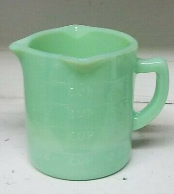 Jadeite Green Glass 3 Spout Cup Measuring Cup reproduction depression mint milk
