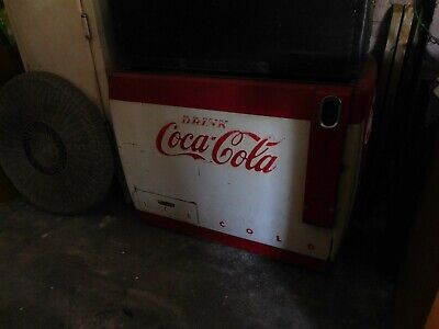 Vintage Red and White Coke Electric Cooler