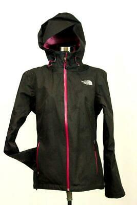 womens black purple paisley THE NORTH FACE softshell coat jacket full zip hood M