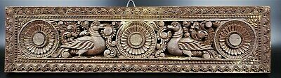 Antique Hand Carved Wood Door Lintel From India