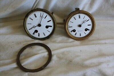 FRENCH.....TWO .CLOCK MOVEMENTS...JAPY FRERES .......spares or repair