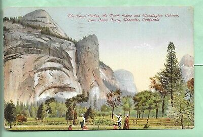 Yosemite Valley. Fenced Pasture. Royal Arches. North Dome. Camp Curry. Calif.