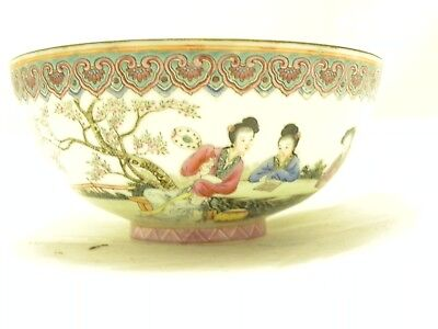 Ciotola Cinese Dipinta Chinese Bowl Egg Shell  20Th Century Enamel Porcelain