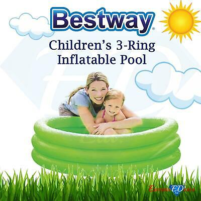 3 Ring Kid's Swimming Pool Water Paddling Activity Inflatable Fun Play Best Way