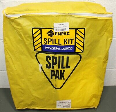 Enpac Chemical/Hazmat Spill Kit ENP D715, Yellow, 6 Gallon, Universal Pads/Socks