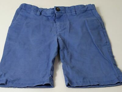 Boys Marks & Spencer Blue Elasticated Waist Chino Shorts Age 9-10 Years