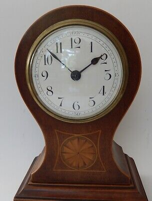 Superb French late 19th. C. Mahogany Balloon Case Mantel clock