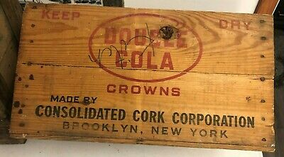 DOUBLE COLA wooden box sent to Sutton Street, Maysville, Ky.