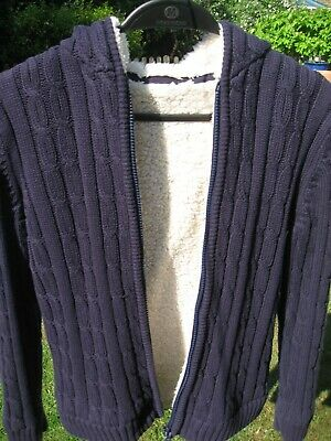 Excellent condition Marks & Spencer M&S boys navy BLUE hoodie Age 11-12 years