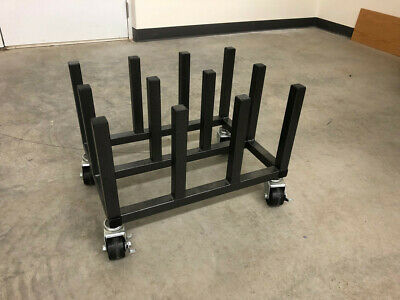 """12-Roll Storage Cart for Media Rolls with 2"""" Cores"""