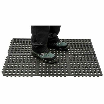 sUw - Anti Fatigue Mat Heavy Duty Black Regular