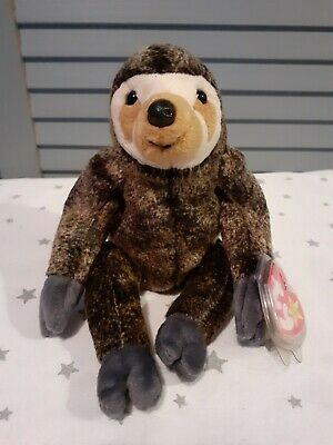 TY BEANIE BABIES COLLECTION - SLOWPOKE, SLOTH 1999. Retired
