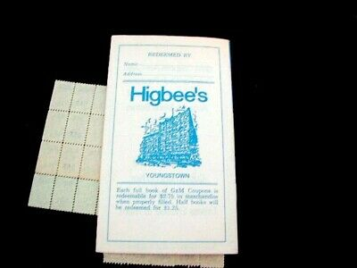 1969-70 Youngstown Ohio Higbee's Department Store Gem Coupon Book + Stamps Mint