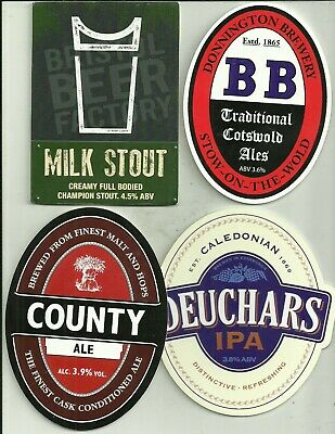 4 Various Brewery used pump clips as scan a4