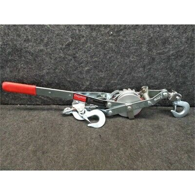 Dayton 3AY60A Cable Ratchet Puller, 1000/2000 lb Lift, 2000/4000 lb Pull, No Box
