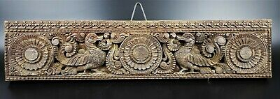 Antique Hand Carved Wood Door Lintel From India  -Wm124