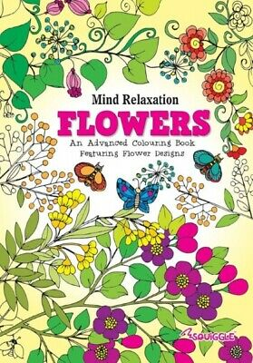 Colouring Book Kids or Adult Stress Relief Colour Art Therapy FLOWERS