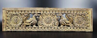 Antique Hand Carved Wood Door Lintel From India  -Wm125
