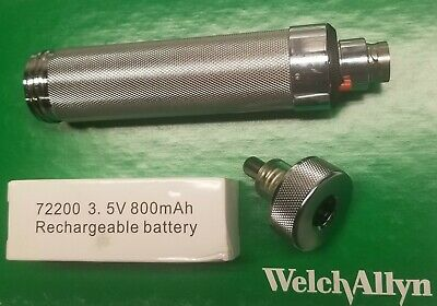 WELCH ALLYN 3.5V RECHARGEABLE POWER HANDLE 71670 with NEW BATTERY INCLUDED