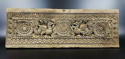Antique Hand Carved Wood Door Lintel From India  -Wm129