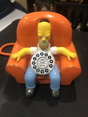 Rare Homer Simpson Animated Talking Phone (The Simpsons See Complete Description