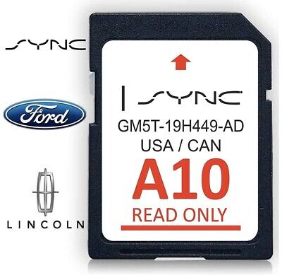 Ford Lincoln A10 SYNC Navigation SD Card Map 2019 USA Canada