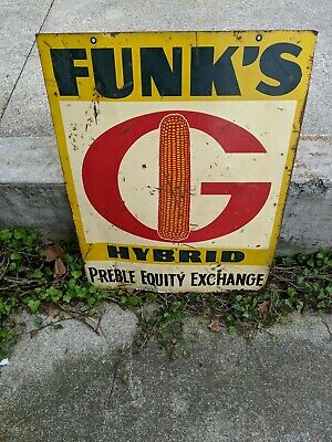 Funks G Hybrid metal sign. Double sided